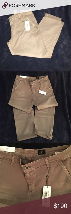 AG Caden trouser size 30 Super soft and comfortable tailored trouser. Color on the tag is sand but closer to a light brown. Brand new with tags! AG Adriano Goldschmied Pants Trousers