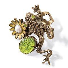 Pewter Frog Ring
