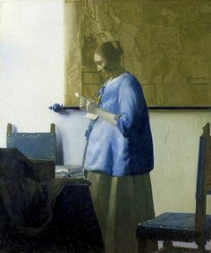 Johannes Vermeer (1632-1675)  Woman in Blue Reading a Letter