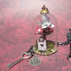 Alice in Wonderland Necklace  Terrarium by ScorpioFashions on Etsy