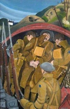 An Advanced Post by John Nash, 1918 The Snow, Famous Artists Paintings, Your Paintings, Inverness, English Artists, British Artists, Ww1 History, History Pics, Ww1 Art