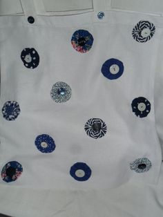 Hand Sewn Embellished Cotton Shopping Bag by Blandsgill on Etsy, £10.00
