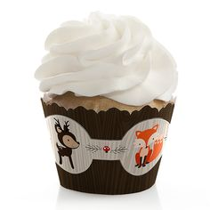 Woodland Creatures - Party Cupcake Wrappers | BigDotOfHappiness.com