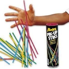Pick up sticks - <3 quality time with my Dad when I was a little kid
