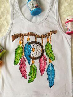 Купить Ловец снов - белый, ловец снов, рисунок на ткани, рисунок на заказ, рисунок на одежде