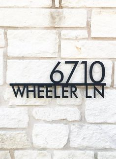 Mod Mettle Address Plaque Address Sign Street Name House Address Sign, Address Plaque, Address Signs, Door Numbers, Address Numbers, Palm Springs, House Names, House Name Signs, Garten