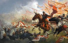 A great charge of 20 thousand coalition forces cavalrymen including 2 thousand Winged Hussars under the command of King Jan III Sobieski preceded by a desperate reconnaissance mission (including the charge on the Vizier Kar Mustafa camp) carried out by a hussar regiment of Prince Aleksander.