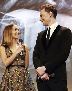 Natalie Portman and Tom Hiddleston