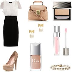 Elegant in Office, created by cloxford on Polyvore