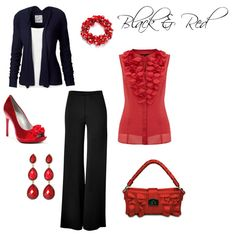 Black and Red, created by nmcwhorter1.polyvore.com
