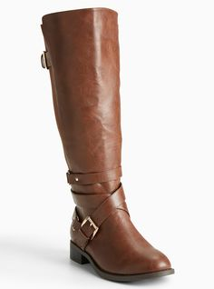 Multi Buckle Strap Gore Tall Boots (Wide Width & Wide Calf) | Torrid