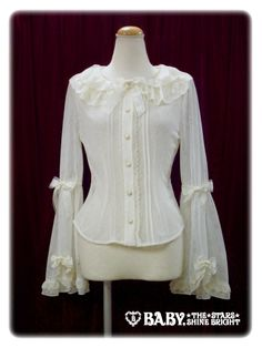 Baby, the Stars Shine Bright's Labyrinth in the Reminiscent Mirror Flower Lace Blouse in Ivory