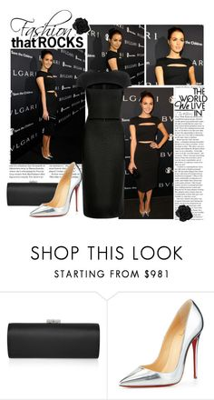 """""""2015 BVLGARI Save The Children STOP THINK GIVE Pre Oscar Event~ Camilla Luddington"""" by snugget9530 ❤ liked on Polyvore featuring Bulgari, Jimmy Choo, Christian Louboutin, women's clothing, women's fashion, women, female, woman, misses and juniors"""