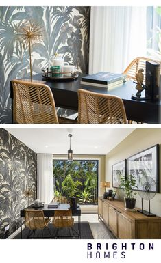 If funky wallpaper and wide open windows is what you love, then the Aurora home office is the one for you! Inspiration from the Aurora at Helensvale, QLD. #brightonhomes #wallpaperideas