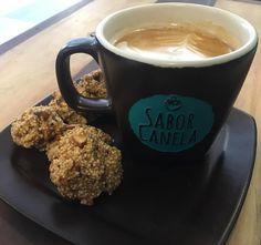 #saborcanelamx #latte #galletas #almendra #glutenfree #cafecitoporlamañana #postres