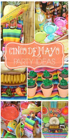 So many vibrant colors at this Cinco de Mayo fiesta! See more party ideas at CatchMyParty.com!