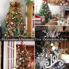 25 Creative and Beautiful Christmas Tree Decorating Ideas   WooHome