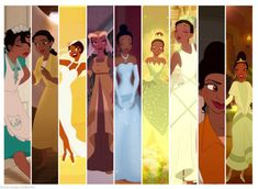Tiana--she has the most costume changes; and this list doesn't include froggy version