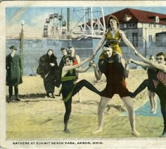 Bathers at Summit Beach Park, Akron, Ohio :: General Photograph Collection of the Akron-Summit County Public Library