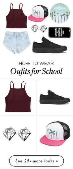 """Random Kids From School"" by sarahcb2002 on Polyvore featuring Aéropostale, Volcom, Converse, Coco's Liberty and Casetify"