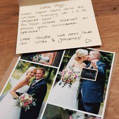 Zur Danksagung nach der Hochzeit verschickt man am besten persönliche Dankeskarten an die Hochzeitsgäste. Die besten Tipps dazu findet Ihr hier. Polaroid Film, Cover, Thanks Card, Cards, Tips