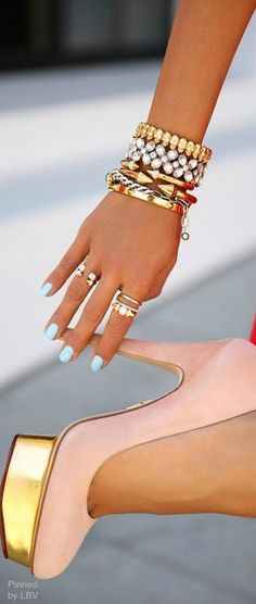 Stacking with charlotte olympia