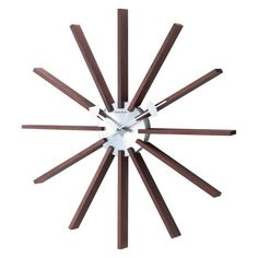 George Nelson Square Spindle 19.25 in. Wall Clock - 1120DARK, Durable
