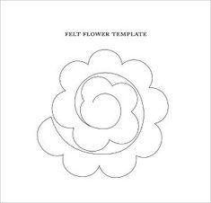 Template For Felt Flower