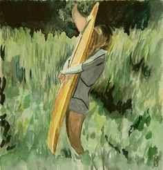 One fin One love Giclee Print, First Love, Ss, Surfing, Pictures, Painting, Photos, Surf, Photo Illustration