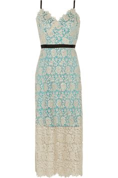 CATHERINE DEANE Ivette Metallic Guipure Lace Midi Dress. #catherinedeane #cloth #dress