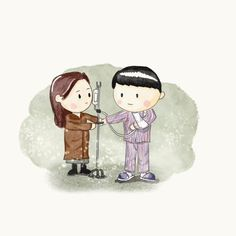 crush landing on you wallpaper cartoon Korean Drama Funny, Korean Drama Movies, Lee Minh Ho, Best Kdrama, Doodle, Hyun Bin, Movie Characters, Acrylic Art, Cute Art