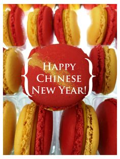 What did you think about our Mango & Red Beans macaron for Chinese New Year? #yannpins