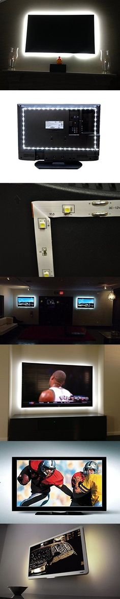 Inspired LED Home Theater | Accent Light Kit | Ambient Light TV LED Backlight | With USB Switch | Small - 123 inch Flexible LED Strip Light | Fits up to 42 Flat Screen TVs