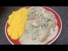 Ciulama de pui cu ciuperci reteta traditionala - YouTube Mashed Potatoes, Chicken, Meat, Ethnic Recipes, Youtube, Food, Cooking, Whipped Potatoes, Smash Potatoes