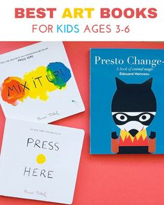 The Best Art Books for Kids Ages 3-6. Our favorite and absolute must-have books for young children that inspire learning about colors, shapes and drawing.