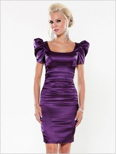 Wedding Guest Dresses Regency Short Sleeves Square Neckline Sheath Style Short Length Wedding Guest Dresses - Dress Inspiration for Women