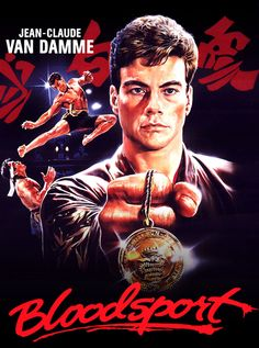 """1988, the movie """"Bloodsport"""" debuted in US theaters. """"Bloodsport"""" is an American martial arts film directed by Newt Arnold, and starring Jean-Claude Van Damme, Donald Gibb, Leah Ayres, and Bolo Yeung. The film is partly based on unverified claims made by martial artist Frank Dux. It sold well at the box office, grossing $11,806,119 domestically on a budget of $1,500,000. """"Bloodsport"""" was one of Van Damme's first starring films and showcased his athletic abilities."""