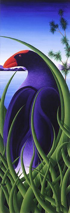 Pukeko in the Grass by NZ artist, Carl Skelton. Available as paper or canvas… Nz Art, Art For Art Sake, Art Maori, Art Pictures, Art Images, Visual Art Lessons, New Zealand Art, Art Auction, Auction Ideas