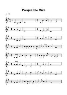 Partituras para Violino: Porque Ele Vive