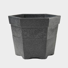 Stewart Sylvan Hexagonal Planter, Granite Effect, 45 cm Big Garden, Lawn And Garden, Garden Pots, China Garden, Decorative Planters, Garden Furniture, Flower Pots, Granite, Contemporary Design