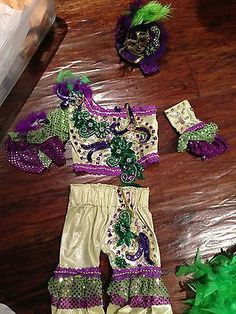 Glitz Baby Mardi Gras OOC Custom Pageant Outfit of Choice Wear