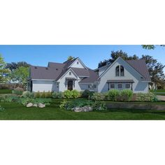 TheHouseDesigners-3151 Construction-Ready Large Farm House Plan with Slab Foundation (5 Printed Sets) Home Building Kits, Building A House, Slab Foundation, Architectural House Plans, House Plans One Story, Farmhouse Plans, Modern Farmhouse, Open Space Living, House Blueprints