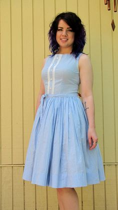 Adorable 50s day dress// Summer// Mad Men style by hakther on Etsy, $75.00