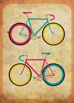 'CMYK Bikes ~ Series 1' by hmx23 on artflakes.com as poster or art print $18.71