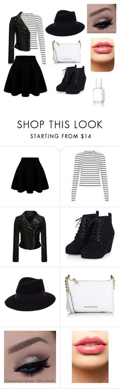 """""""Cute outfit..."""" by jungraesunsunshine ❤ liked on Polyvore featuring New Look, Rick Owens, Michael Kors, LASplash and Essie"""