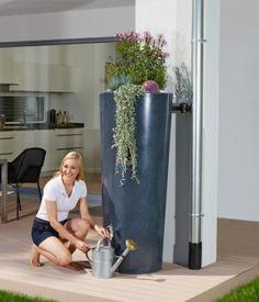 regentonne rainbowl flower 150 l anthrazit regentonne. Black Bedroom Furniture Sets. Home Design Ideas