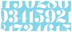 Numerals from Flabbergast typeface