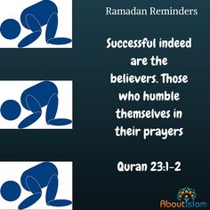 Be humble in your prayers.