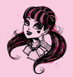 Monster High Photo: Draculaura is cute Monster High Dibujos, Arte Monster High, Monster High Dolls, Cartoon Monsters, Cute Monsters, Draculaura, Personajes Monster High, Arte Sketchbook, Fanart