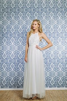 This Racer Front Pairing | 36 Ultra-Glamorous Two-Piece Wedding Dresses